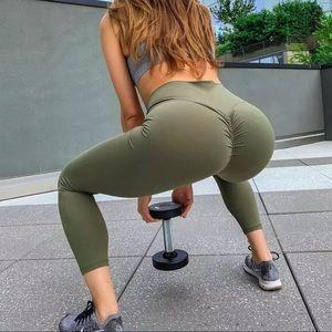 High Waist Push Up Scrunch Yoga Fitness Leggings